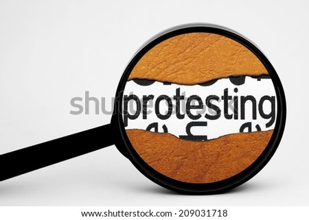 Search for protest - stock photo
