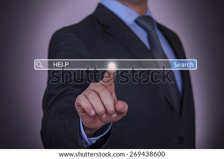 Search Help - stock photo