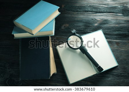 Search in the book - stock photo