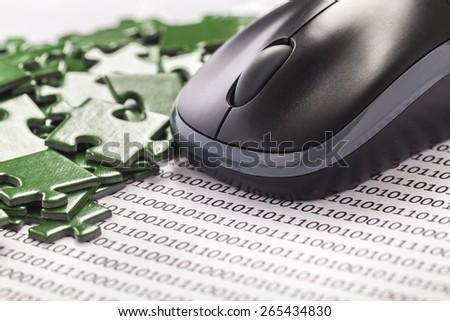 Search, mathematical, cybernetics. - stock photo