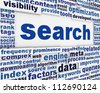 Search message conceptual design. New media optimization poster concept - stock photo