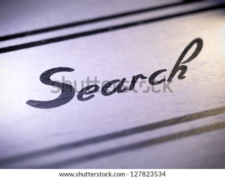 search ( my own font )  Full collection of icons like that is in my portfolio - stock photo