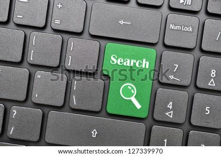 Search on keyboard - stock photo
