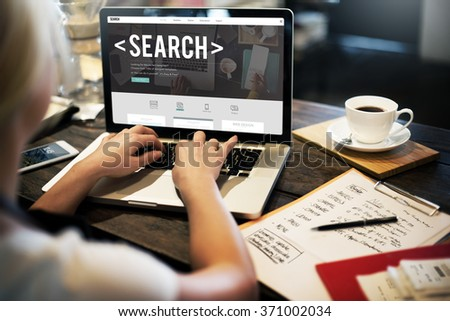 Search Searching Exploration Discover Inspect Finding Concept - stock photo