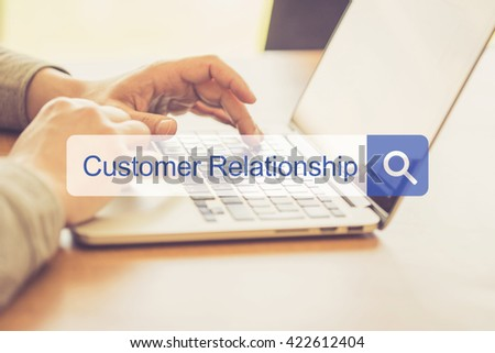 SEARCH WEBSITE INTERNET SEARCHING CUSTOMER RELATIONSHIP CONCEPT - stock photo