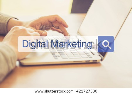 SEARCH WEBSITE INTERNET SEARCHING DIGITAL MARKETING CONCEPT - stock photo