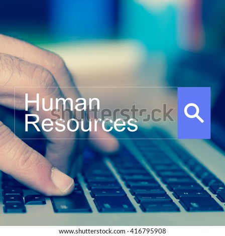 SEARCH WEBSITE INTERNET SEARCHING Human Resources CONCEPT - stock photo