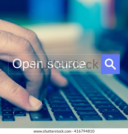 SEARCH WEBSITE INTERNET SEARCHING OPEN SOURCE CONCEPT - stock photo