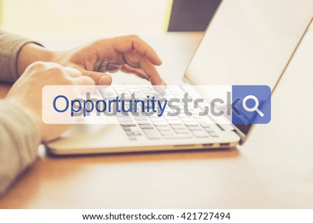SEARCH WEBSITE INTERNET SEARCHING OPPORTUNITY CONCEPT - stock photo