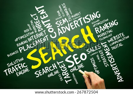SEARCH word cloud, business concept - stock photo