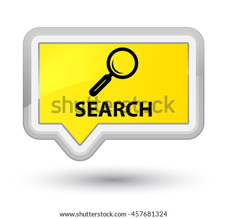 Search yellow banner button - stock photo