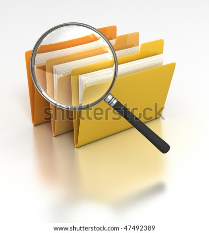 Searching Files - stock photo