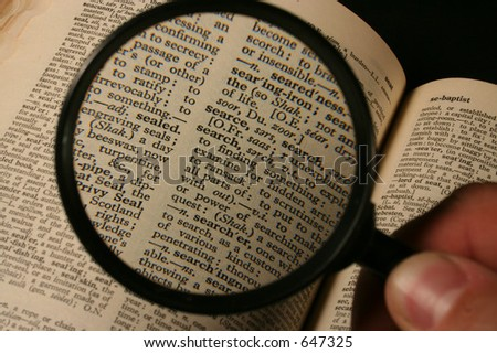 Searching finding - stock photo