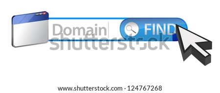 Searching for a domain concept illustration design - stock photo