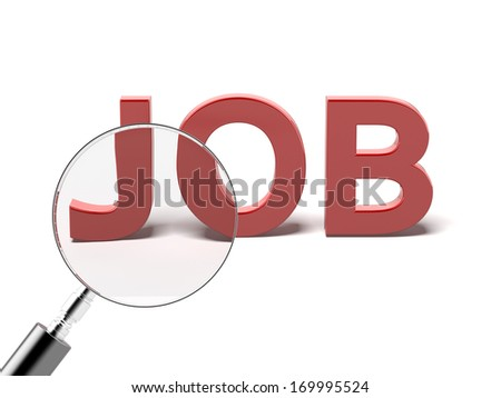 searching for job - stock photo