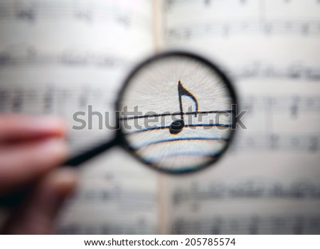 searching for music - stock photo