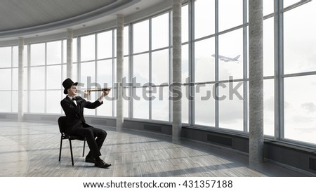 Searching for perspectives - stock photo