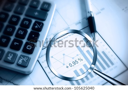 searching for profit - stock photo