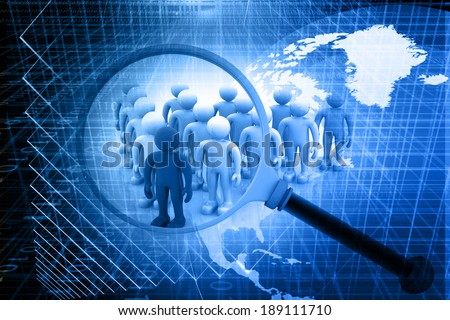 Searching for the right person. Abstract digital background  - stock photo