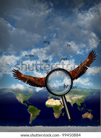 Searching the planet - stock photo