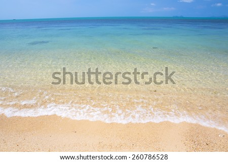 seascape at bangpo beach Koh Samui island in Thailand. - stock photo