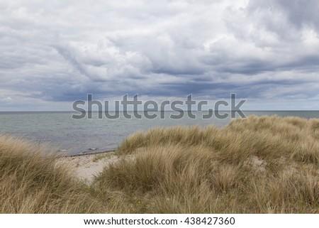 Seascape at the Baltic Sea near Kiel, Germany - stock photo