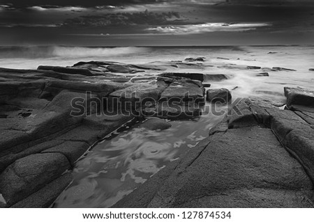 Seascape, Balito, Kwazulu Natal, South Africa - stock photo