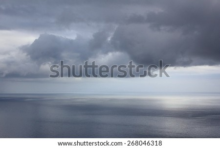 seascape, before the rain