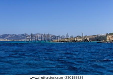 Seascape in Ano Koufonisi island, Cyclades, Greece - stock photo