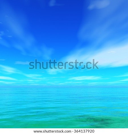 seascape, ocean and sky