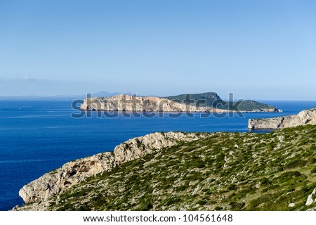 Seascape of Balearic islands, Spain