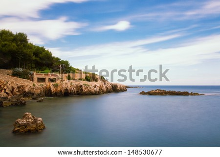 Seascape of Cap d'Antibes, Provence, France