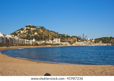 seascape of the Costa Brava in  Spain , nice for a holiday