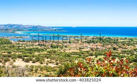 seascape of the Oriental coast of Sardinia, near San Teodoro, Italy - stock photo