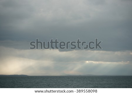 seascape on a cloudy day