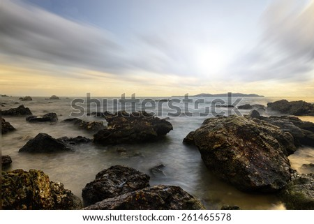 seascape , ripple,sunrise . - stock photo
