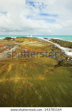 Seascape scenery at Simpang Mengayau beach,Kudat,Sabah - stock photo