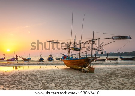 seascape, ship for fishing
