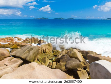 Seascape Shore Scene  - stock photo