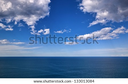 seascape with clouds in the Bay of Biscay
