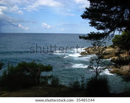 seaside in montenegro - stock photo