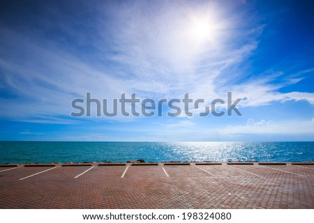 Seaside Parking parking lot  - stock photo