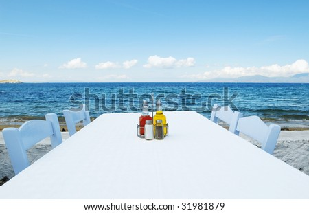 Seaside Table - stock photo