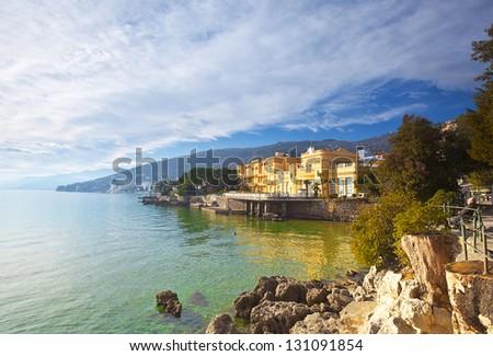 seaside town Opatija. Croatia. - stock photo