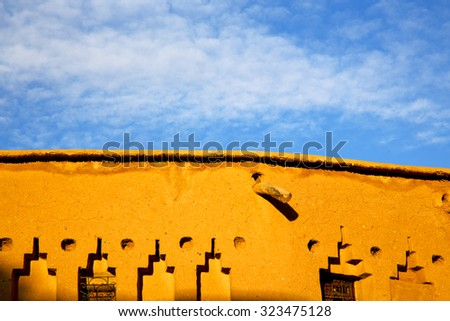 season africa  in morocco the old    contruction and the historical village - stock photo