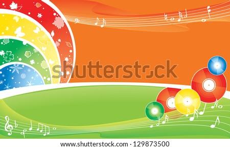 Seasonal brightness multicolour background. - stock photo