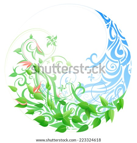 Seasonal cycle from winter into spring and summer. Timeline concept - stock photo
