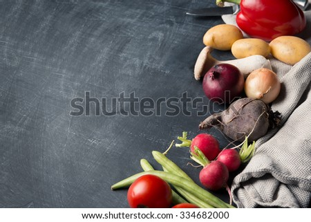 Seasonal food background - stock photo