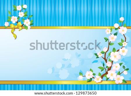Seasonal multicolour background with copyspace. - stock photo