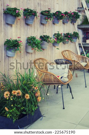 seasonal place in home  - stock photo